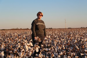 Cotton harvest is reason for self-portraits!